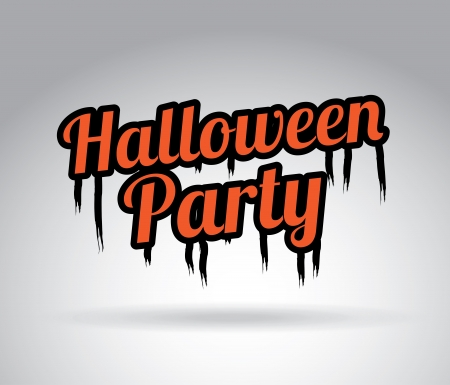 halloween party over gray background vector illustration Vector