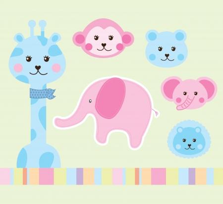 leon de dibujos animados: diseño de los animales sobre fondo verde ilustración vectorial Vectores