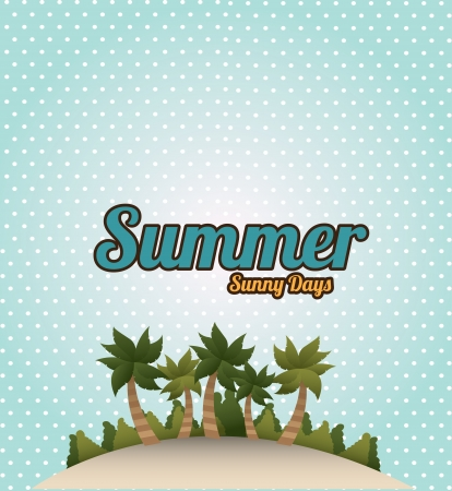 summer design over dotted background vector illustration Vector