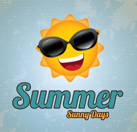 smyle: summer design over lineal background vector illustration   Illustration
