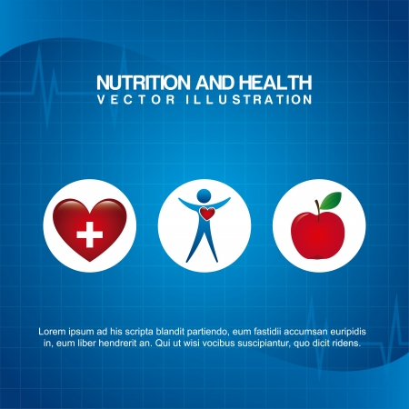 nutrition design over blue background vector illustration  Vector