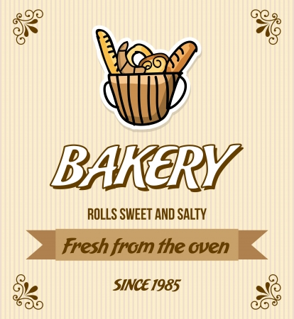 bakery design over cream background vector illustration    Vector