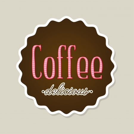 coffeedelicious over beige background vector illustration