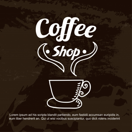 Coffee shop over black background vector illustration  Vector