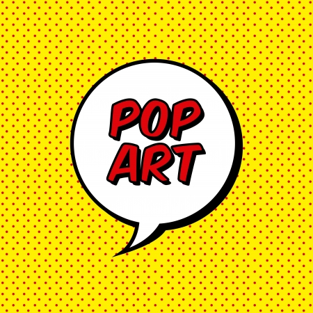 l art: explosion pop art sur fond pointillé. illustration vectorielle Illustration