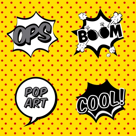 comic icons over dotted background vector illustration   Vector