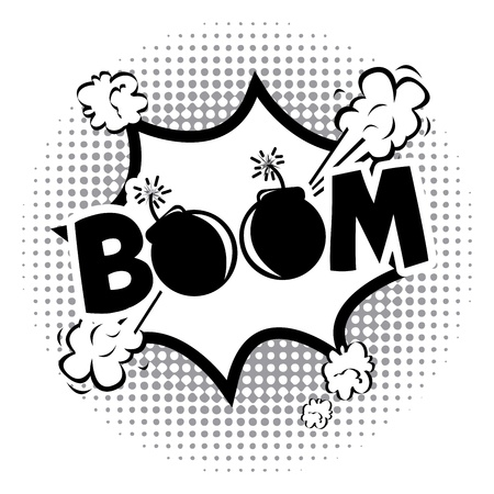boom comics icon over dotted background vector illustration     Vector