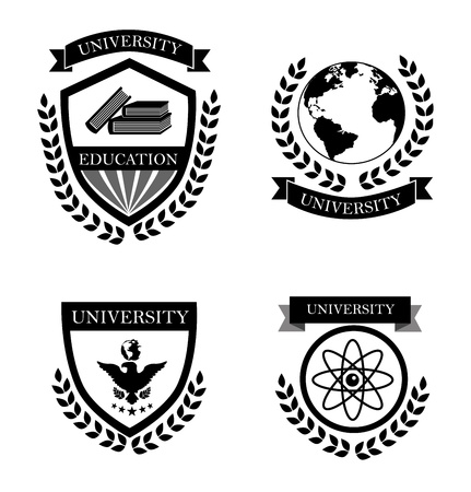 university labels over white background vector illustration  Vector