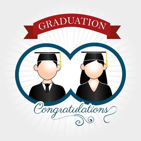 graduation label over lineal background vector illustration  Illustration