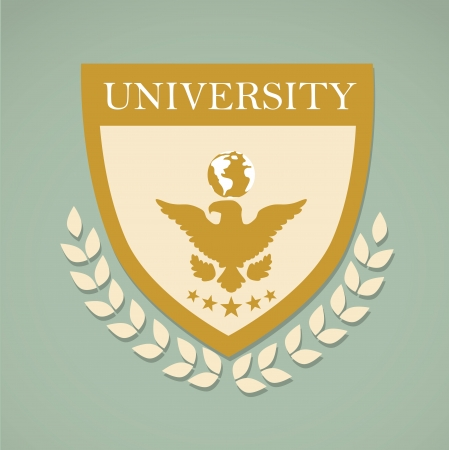 university label over gray background vector illustration  Vector