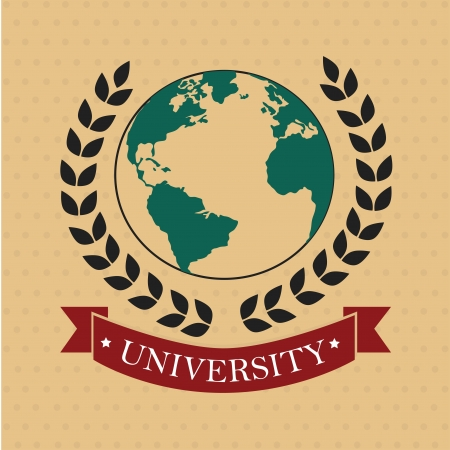 university label over dotted background vector illustration  Vector
