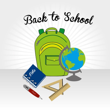 back to school over gray background vector illustration  Vector