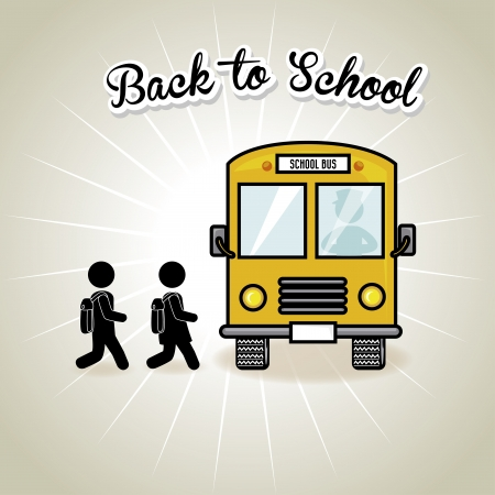 rout: back to school design over gray background vector illustration