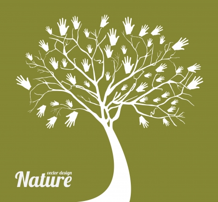 nature design over green background vector illustration  illustration