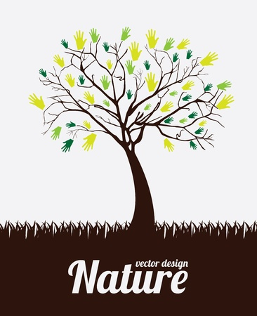 nature design over white background vector illustration  illustration