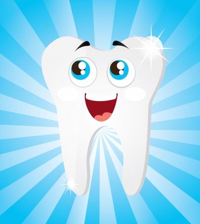 tandpictogram over blauwe achtergrond vector illustratie