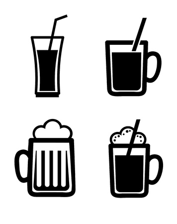 happy hour: beers design over white background vector illustration