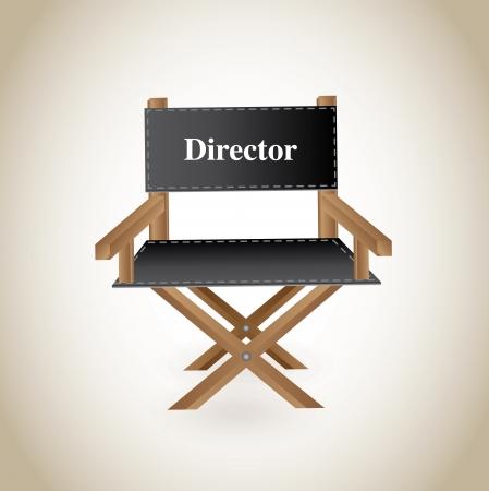 director chair over beige background vector illustration  illustration