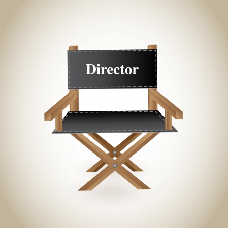 clicker: director chair over beige background vector illustration