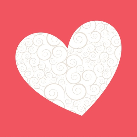 love heart over pink background vector illustration    Stock Illustration - 22168737