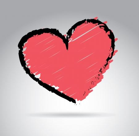 love heart over gray background vector illustration Stock Illustration - 22168740