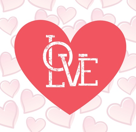 love heart over pattern background vector illustration    Stock Illustration - 22168741