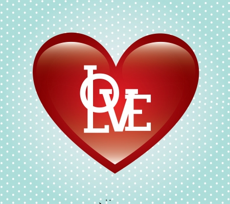 love heart over dotted background vector illustration Stock Illustration - 22168742