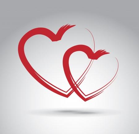 love hearts over gray background vector illustration Stock Illustration - 22168744