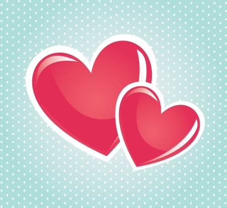 love hearts over dotted background vector illustration Stock Illustration - 22168747