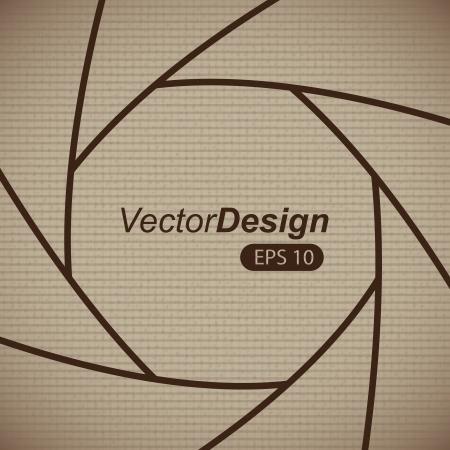 hypocenter: camera lens over vintage background, vector illustration