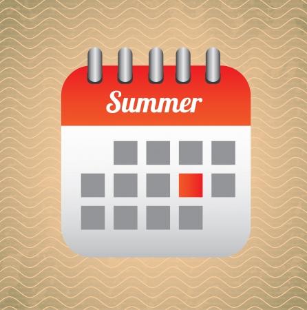 calendar design over pattern background vector illustration Stock Illustration - 22168833
