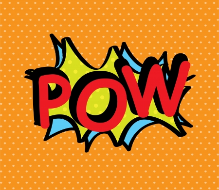 pop art with pow text over dotted background vector illustration illustration