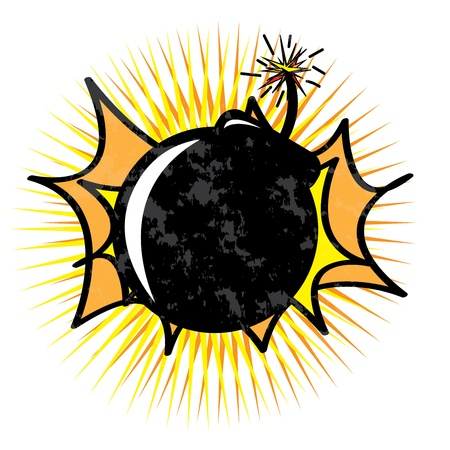 Bomb design over white  background vector illustration   illustration