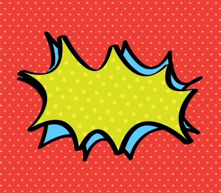 bursts: pop art con testo aperto su sfondo grigio illustrazione vettoriale