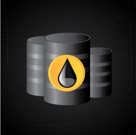 chemical spill: petroleum design over black background vector illustration
