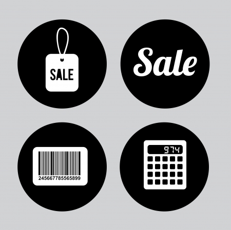 shoppings: shoppings icons over gray background vector illustration Stock Photo