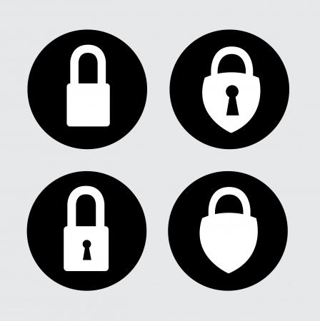 padlock isolated over gray background vector illustration  illustration