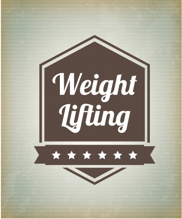 weight lifting  seal over lineal background vector illustration  Stock Illustration - 22168990