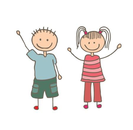 camaraderie: kids design over white background vector illustration Stock Photo