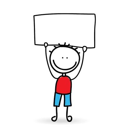 camaraderie: boy design over white background vector illustration  Stock Photo