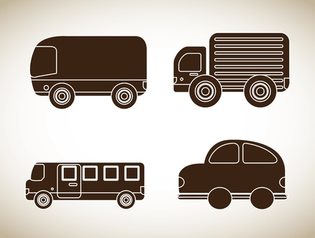 cars icons over beige background vector illustration illustration