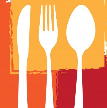 menu design over squares background vector illustration  illustration