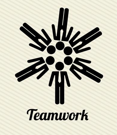 teamwork design over lineal background vector illustration  illustration