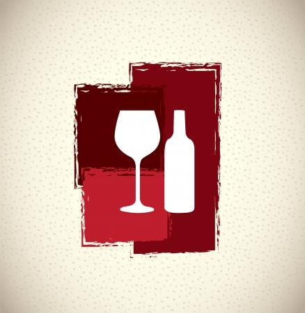 wine design over pattern background. vector illustration