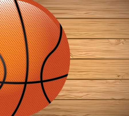 basketball design over wooden background vector illustration  illustration