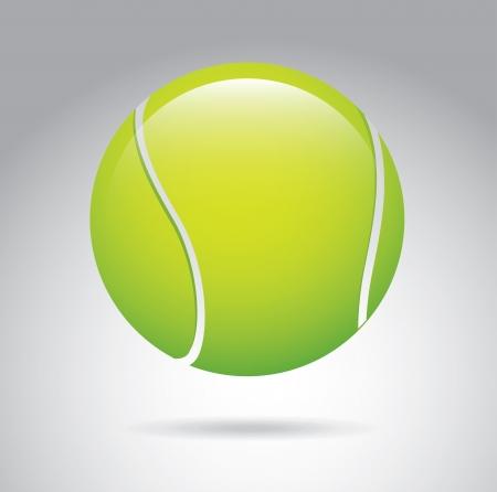 tennis ball over gray background vector illustration  illustration