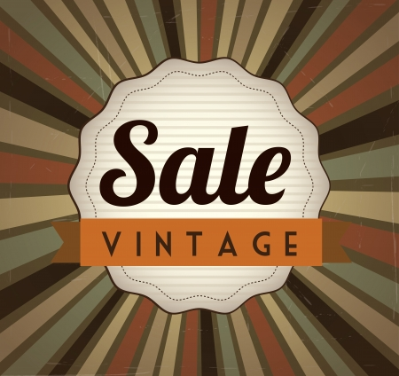 best choice: big sale over vintage background vector illustration