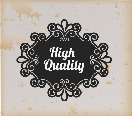 high quality label over vintage background vector illustration   illustration