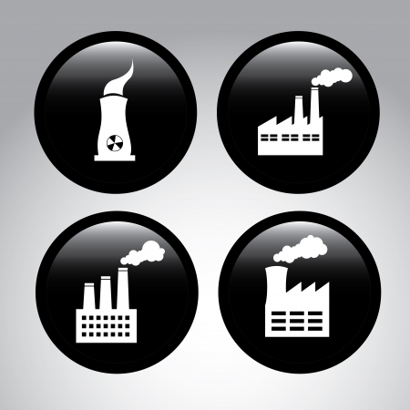 factory icons over gray background vector illustration Stock Illustration - 22169066