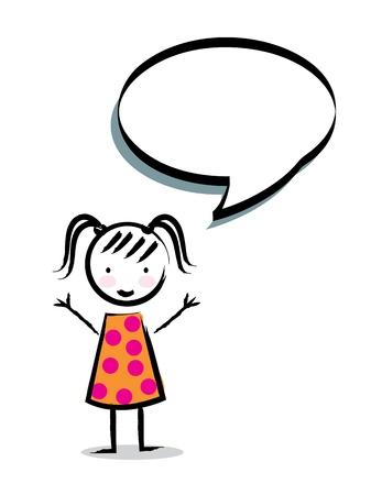 camaraderie: cartoon girl over white background vector illustration